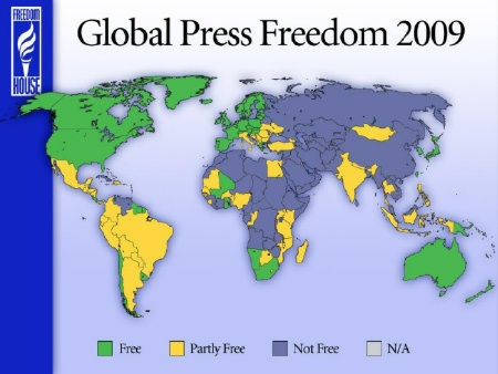 look at the blue NOT free countries.